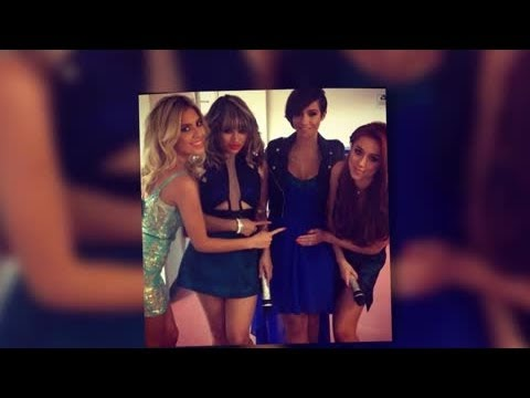 The Saturdays Point at Frankie Sandford's Baby Bump - Splash News | Splash News TV | Splash News TV