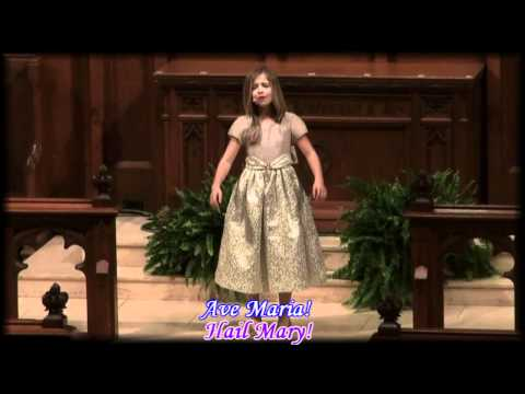 Ave Maria by Jackie Evancho with lyrics and English translation