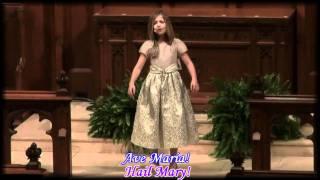 ave maria by jackie evancho with lyrics and english translation