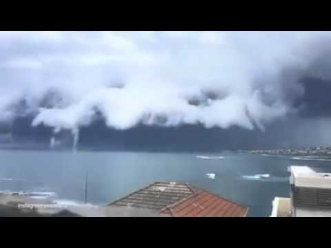Wild shelf cloud over the eastern suburbs of Sydney Australia Thursday