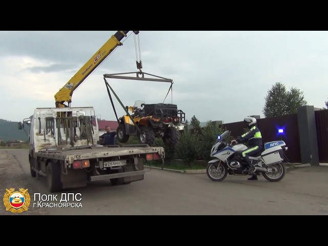 Мотовзвод ДПС провел рейд в МО Дивногорск