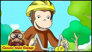 Curioso come George 🐵George va in Biccicleta 🐵Cartoni per Bambini 🐵George la Scimmia