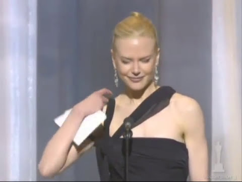Nicole Kidman winning Best Actress