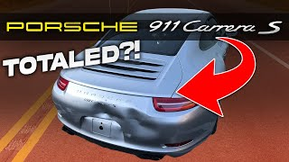 REBUILDING A WRECKED 2013 PORSCHE CARRERA S LIVE AUCTION AND PICKING UP THE PORSCHE