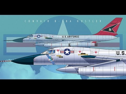 Convair B-58 Hustler Supersonic Air Force Bomber Jet From The 1960s