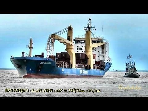 BBC FLORIDA V2EK3 IMO 9433286 Emden cargo seaship merchant vessel Seeschiff with tug