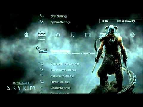 Elder Scrolls V Skyrim Dynamic Theme Youtube