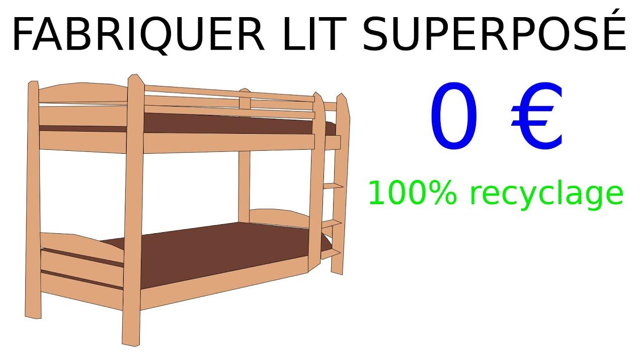 comment fabriquer un lit superpose en bois pour 0