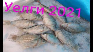 озеро Уелги 2021 рыбалка на карася со льда прикормил мелким мотылем что вышло