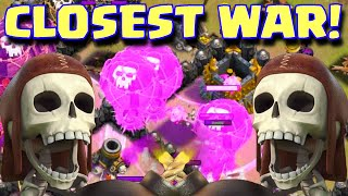 Clash Of Clans CLOSEST CLAN WAR | PERFECT CLAN WAR PARTICIPATION