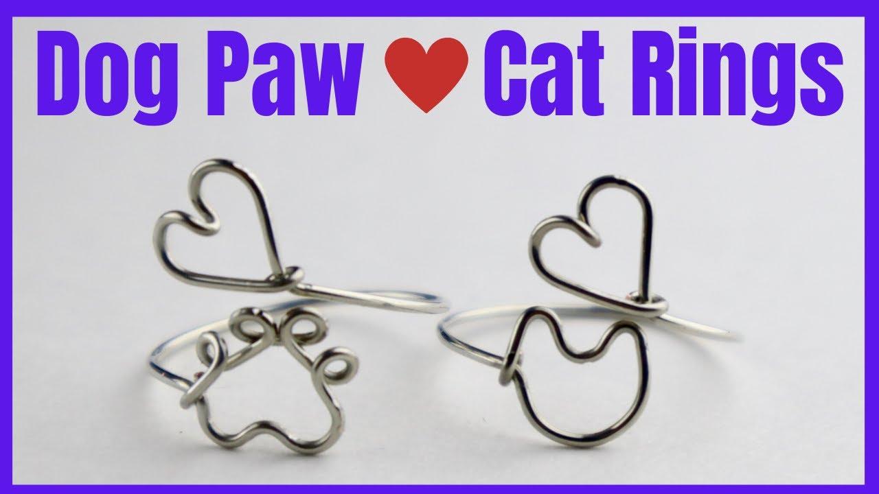 DIY Dog Paw Heart Ring // Cat Face Heart Ring Tutorial
