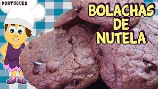 Bolachas De Nutela| Nutella Cookies | Portugues Receta Para ñinos | Portuguese Recipes