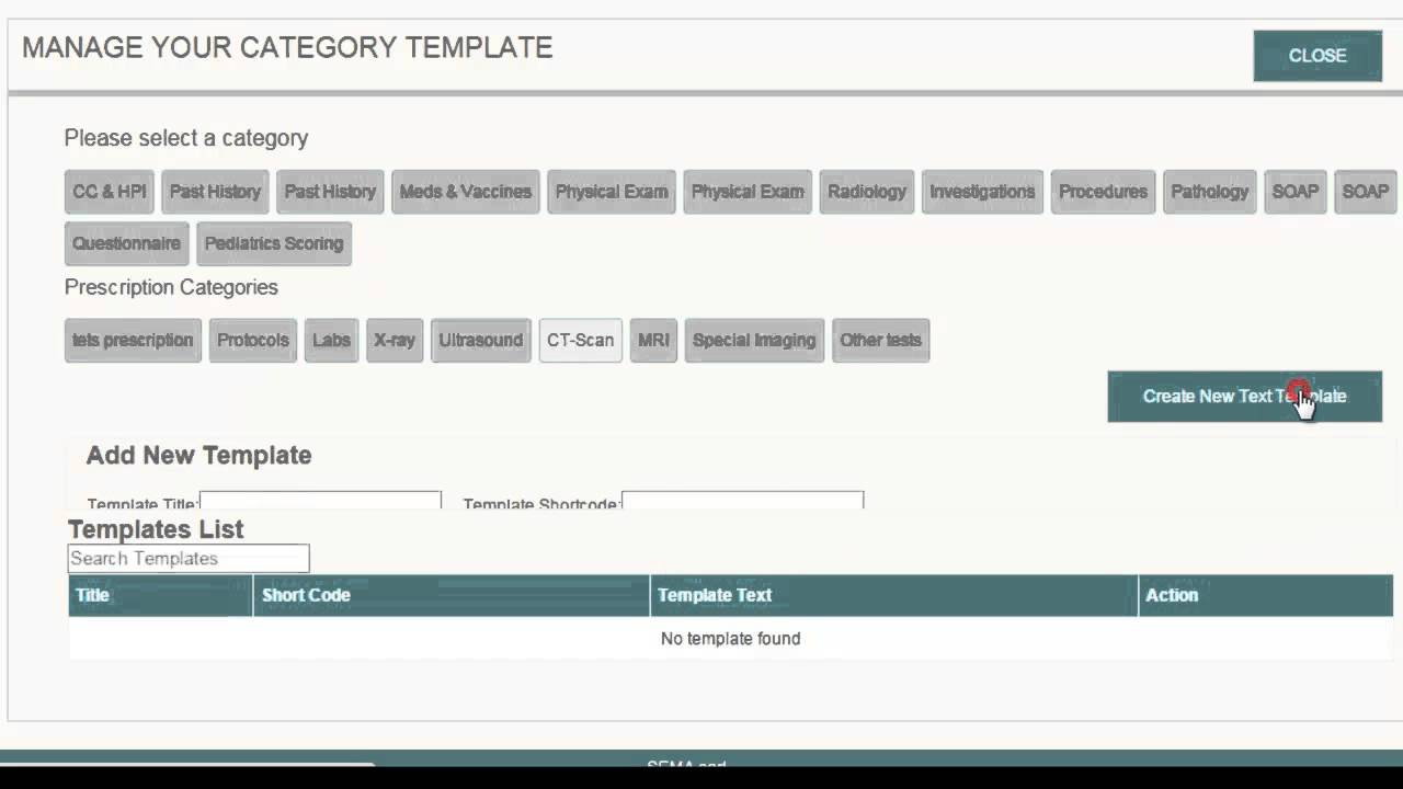 Smart EMR Creating Text Templates - YouTube