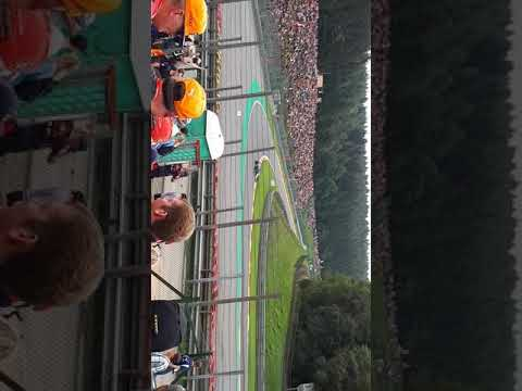 Sainz passing by, Silver 3 tribune SPA F1 2017 FP3