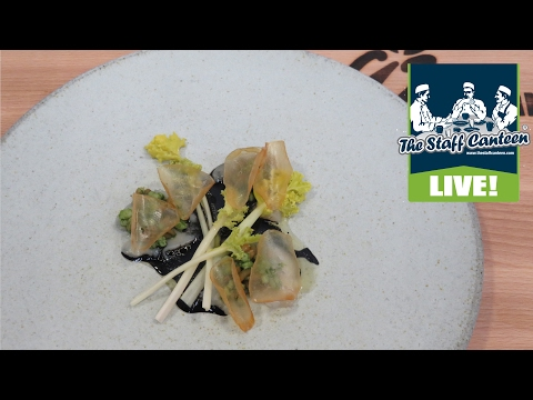 Brad Carter cooks Orkney scallop with land and sea kale
