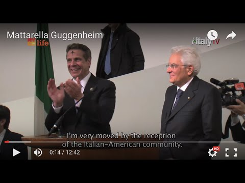 The Guggenheim Museum - President of the Italian Republic, Sergio Mattarella