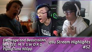 BeasttrollMC, Fieryrage Raise my Sword and FlyingTuna 900pp | osu! stream highlights #52