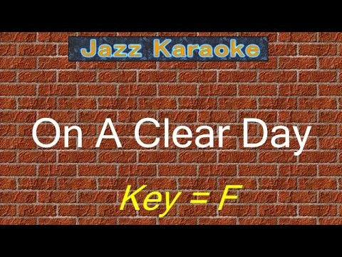 "JazzKara  ""On A Clear Day"" (Key=F)"