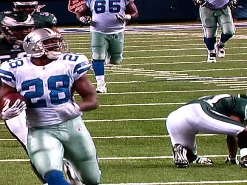 FELIX JONES RECORD SETTING 73 YARD TOUCHDOWN RUN VS EAGLES IN WILD CARD GAME 1-9-2010.mov