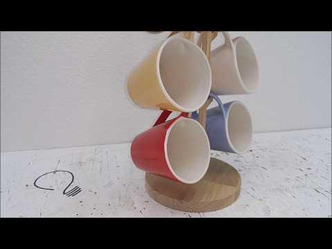 Wooden Mug Stand
