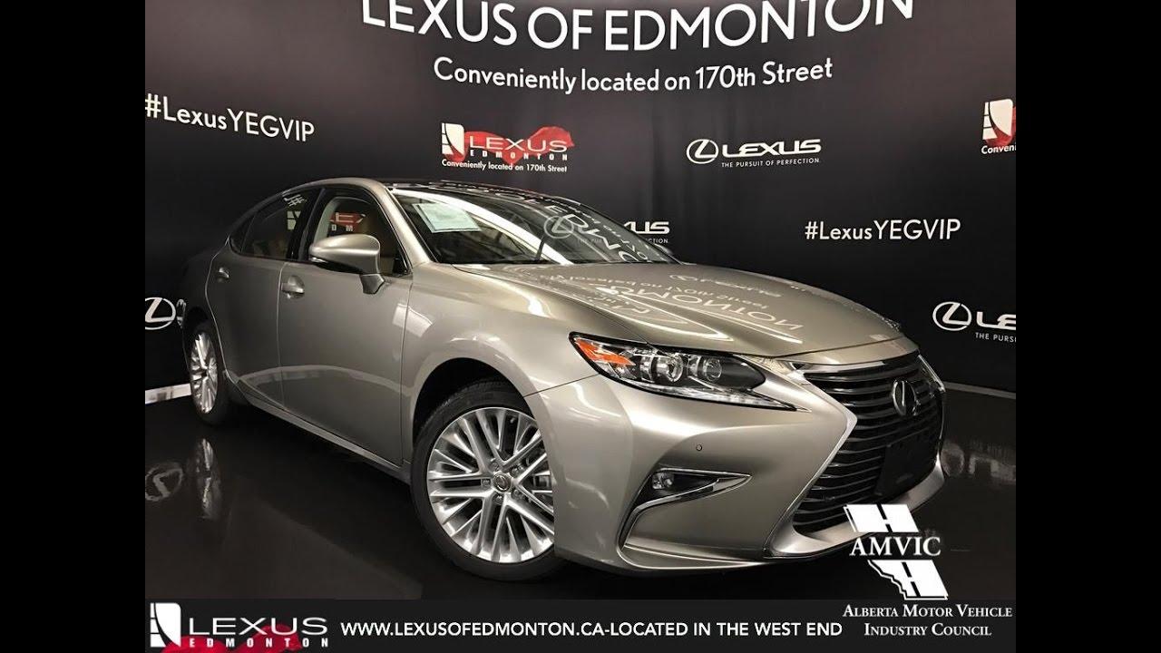 2017 Atomic Silver Lexus Es 350 Executive Walkaround Review East Edmonton Alberta You