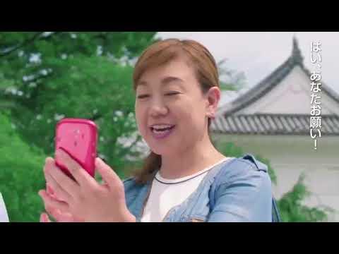 谷ちえ子出演【らくらくスマートフォン4】カメラ・写真転送
