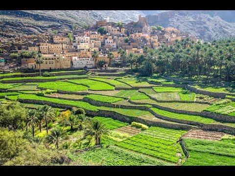 Driving mountain road from Al Hamra to Ar Rustaq in Oman