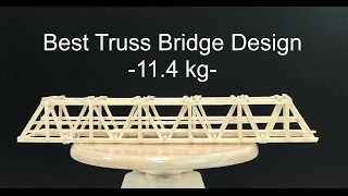 This video is about testing the best balsa wood truss design that I have made. The weight of the bridge was 25 grams, and the