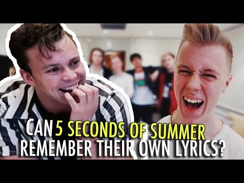 Can 5SOS Remember Their Own Lyrics?