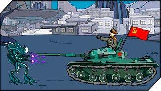 СТАЛИН на ТАНКЕ против РОБОТОВ - Игра Age of war 2 Generals прохождение # 6 (Stalisov The Supreme)