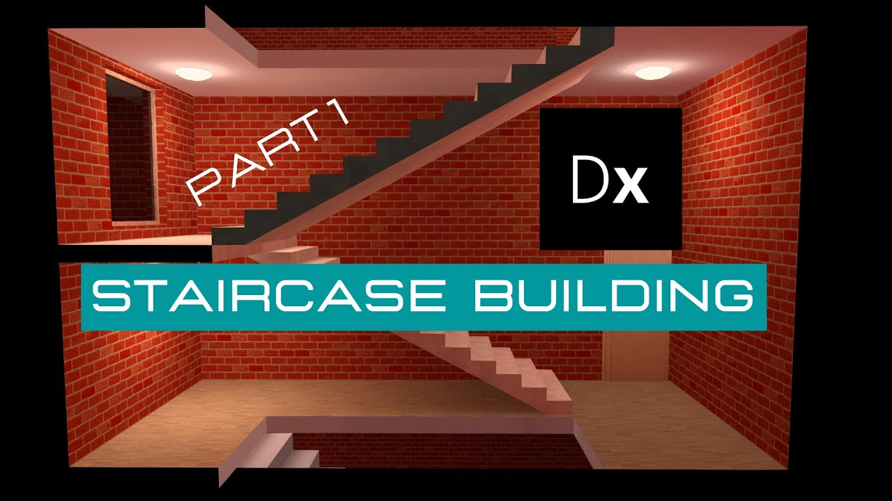 6 Dialux evo for beginners: Creating straight staircases(Copy and Arrange)  part1