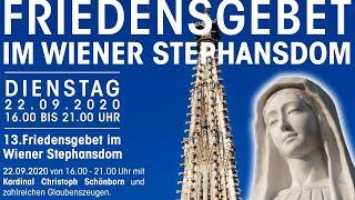 Friedensgebet 2020 | LIVE aus dem Stephansdom in Wien