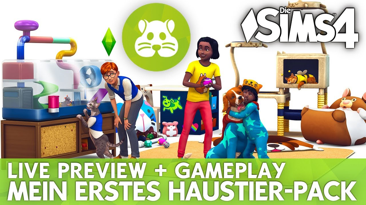 Die Sims 4 Mein Erstes Haustier Accessoires Pack Live Gameplay Preview Youtube