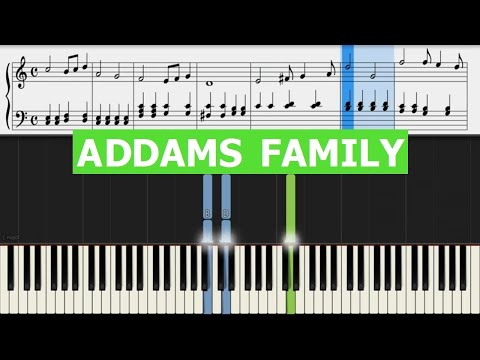 Addams Family  Main Theme  Piano EASY Sheet Music & Letter Notes  SOUNDTRACK