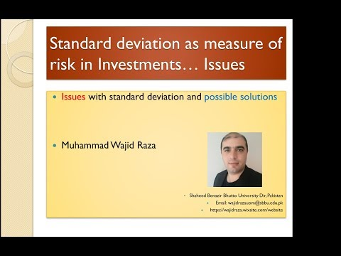 Standard deviation as Risk Measure: Issues and possible solution
