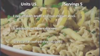 Chicken Piccata Pasta Toss recipe