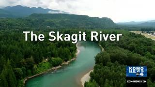 Drone footage of the Skagit River