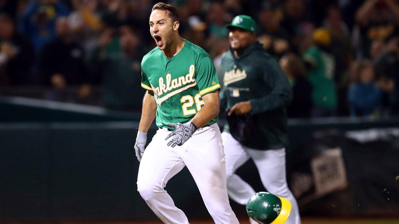 new styles ca89a dda3d Matt Olson 2018 Highlights | Oakland Athletics