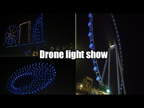 Drone light show in dubai 2021/Dubai shopping festival/Blue water island/