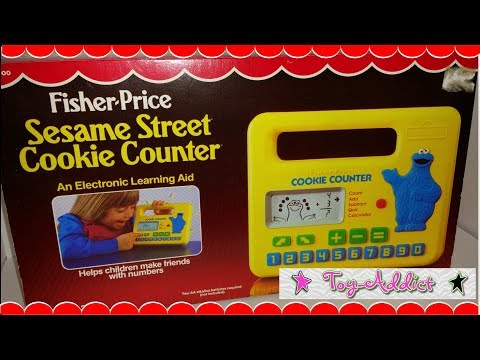 Vintage Fisher Price Sesame Street Cookie Counter Electronic Game ~ Toy-Addict