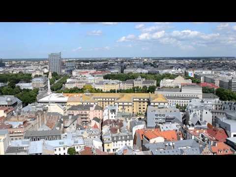 アキーラさん堪能!ラトヴィア・リガの絶景1,The city view of Riga,Latvia