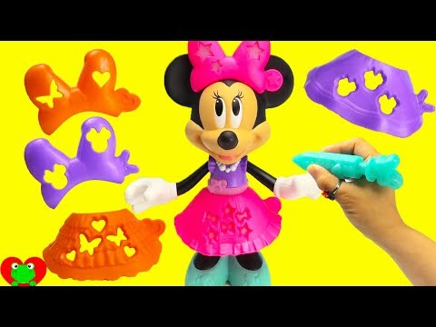 Minnie Mouse Dresses Up in Stencil and Style Fashion
