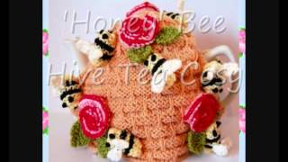 Honey Bee Hive Pot Tea Cosy DK Knitting Pattern