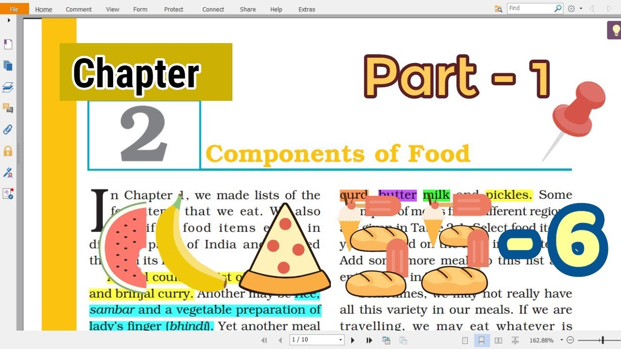 CLASS 6 SCIENCE CHAPTER- 2, Part-1 [NCERT] (Explained in hindi) CBSE/UPSC |  Components of Food