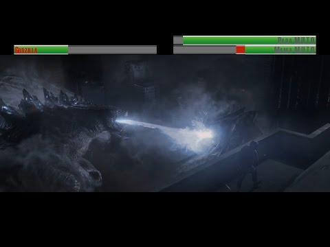 Godzilla vs M.U.T.O's...with healthbars