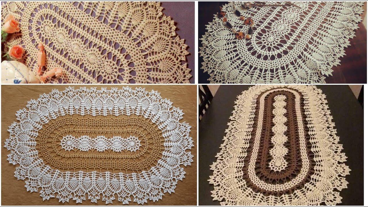 مفرش بيضاوي بالكروشية مذهل مع إمكانية التكبير كما تريدين الجزء ١ ٤ Crochet Oval Doliy