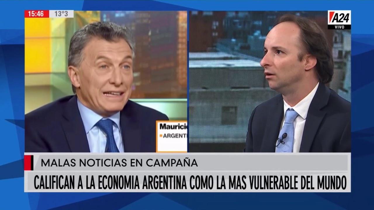 Califican a la economía argentina como la mas vulnerable del mundo
