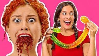 อาหาร vs กัมมี่ || มากินกัมมี่ที่ใหญ่ที่สุดในโลกกันเถอะ! ลองชิมอาหารขนาดยักษ์ โดย 123 GO! Challenge
