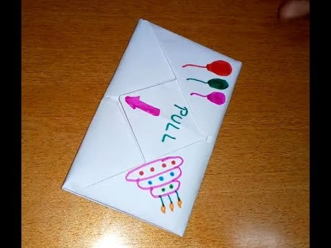 DIY - Pull Origami Envelope Card | Letter Folding Origami | Birthday Card | Paper Craft