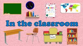 In the classroom. В классе. Английский для детей. English for kids.